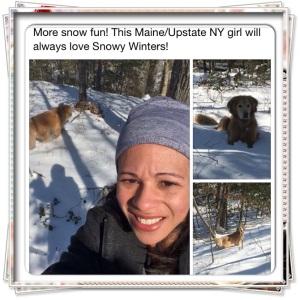 Enjoy a Snowy Run through the Woods with my Golden Retriever.