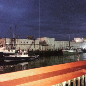 Night time view from the patio of the Porthole Restaurant!