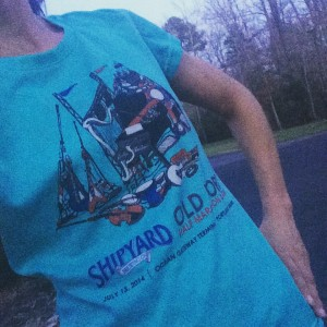 Awesome Tech Tee Shipyard Old Port Half or 5k