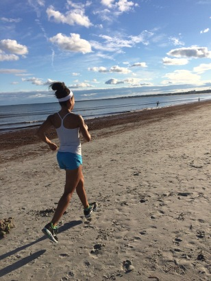Tons of running on the beach