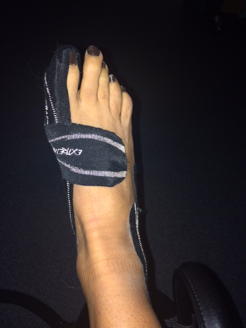 foot-taped